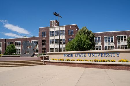 Boise, Idaho - July 14, 2019: Exterior of the Boise State University college campus