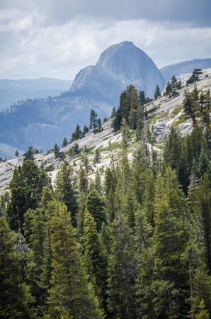 Olmstead Point in Yosemite National Park with a view of Half Dome. Located off of Tioga Pass
