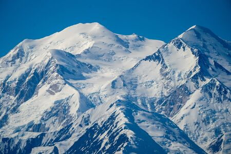 Close up unobstructed view of Denali (Mt. McKinley) in Denali National Park. A completely clear view of The Great One only occurs 10% of the time