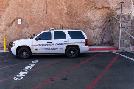 Hoover Dam security police car SUV, Stock Photo - 139041992