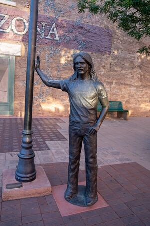 Glenn Frey from The Eagles - Standin On The Corner in Winslow Arizona along Route 66