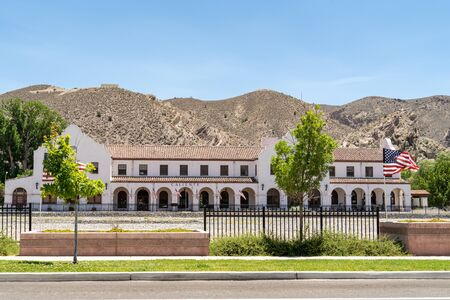 Caliente Nevada Train Station depot in Lincoln County Nevada