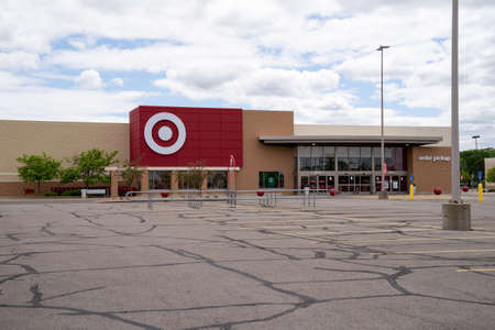 Minneapolis, Minnesota - May 29, 2020: The Crystal Target store is closed for the safety of employees and customers in anticipation of riots and looting in the death of George Floyd Editöryel