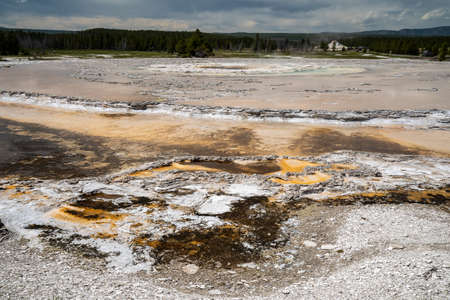Great Fountain Geyser, a geothermal feature along Firehole Lake Drive in Yellowstone National Park