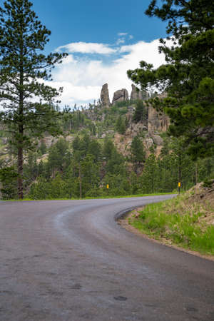 Beautiful spires rock formations in Custer State Park along the Needles Highway South Dakota