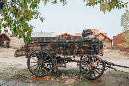 Old wagon, abandoned in the ghost town of South Park City (Fairplay) Colorado
