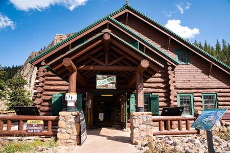 Colorado, USA - September 15, 2020: Entrance to the historic Glen Cove Inn along Pikes Peak mountain