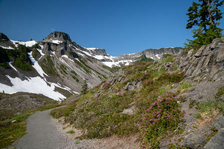 Trail in the Heather Meadows area of Mt. Baker National Recreation Area of Washington State