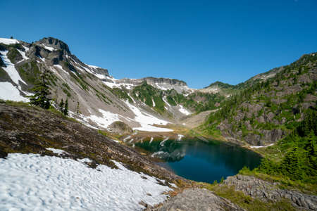 Scenic view of Heather Meadows area of Mt Baker in Washington State 版權商用圖片