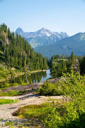 Heather Meadows area of Mt Baker wilderness in Washington State 版權商用圖片