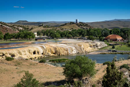 Expansive view of Hot Springs State Park in Thermopolis Wyoming