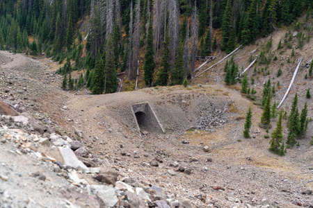 Corkscrew Bridge overlook, part of the original road into Yellowstone National Park from Cody 新聞圖片