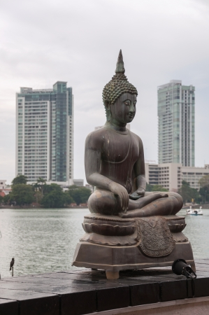 colombo: Buddha statue at Sima Malaka Buddhist Temple in Colombo, Sri Lanka