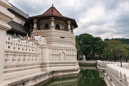kandy: Temple of the Sacred Tooth Relic in Kandy, Sri Lanka