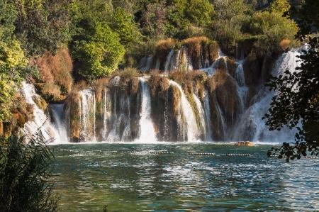 dalmatia: Waterfall in Krka National Park, Croatia