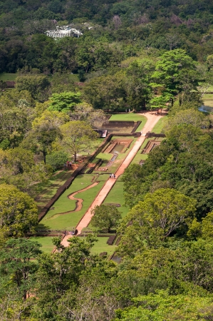 surviving: Sigiriya gardens - the oldest surviving historic gardens in Asia  View from the summit of the Sigiriya rock