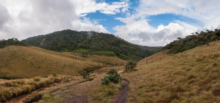 Panorama of Horton Plains in Sri Lanka  photo