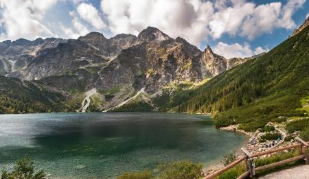 morskie: Morskie Oko, largest lake in the Tatra Mountains, Poland  Stock Photo