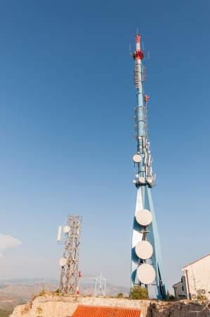 srd: Communication tower on Srd hill near Dubrovnik in Croatia