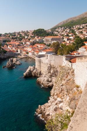 City walls of Dubrovnik Old City in Croatia