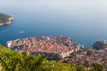 srd: Beautiful view of Dubrovnik from cableway station on Srd mountain