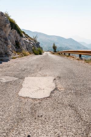 Narrow road in Biokovo mountains leading to sv, Jure peak  photo