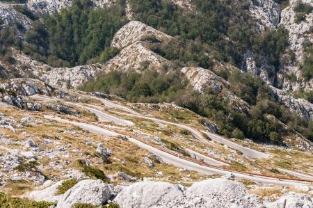 jure: Winding road to sv Jure peak in Biokovo mountains