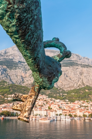 st peter: Key to Makarska in a hand of St Peter statue