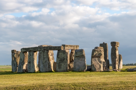 Stonehenge in afternoon sun  Prehistoric monument in Wiltshire, England photo