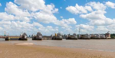 tailings: The Thames Barrier - movable flood barrier in eastern London, United Kingdom