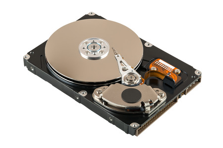 Hard disk drive isolated on white photo