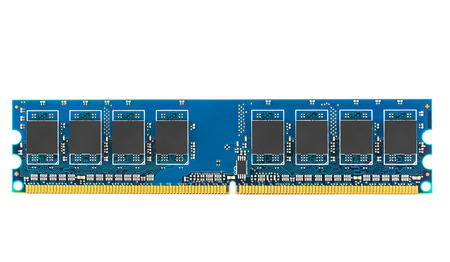 DDR RAM memory module isolated on white background with clipping path