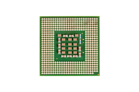 CPU - Central Processing Unit isolated on white background with clipping path