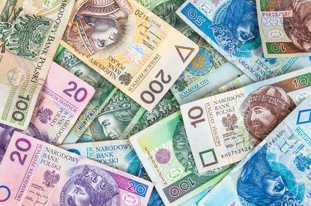 Background made of polish banknotes (polish zloty) Stok Fotoğraf