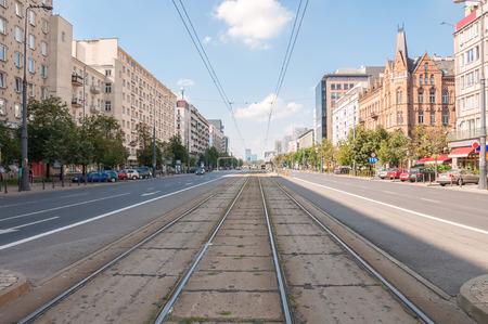 Marszalkowska Street, main street in capital of Poland