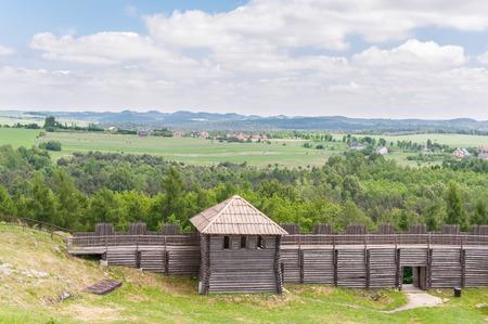 jura: Old settlement on Birow mountain near Ogrodzieniec in Poland Stock Photo