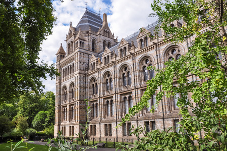 history building: Side part of Natural History Museum building in London, United Kingdom Editorial