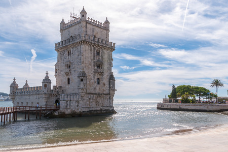 tagus: Tower of Belem on the bank of the Tagus River