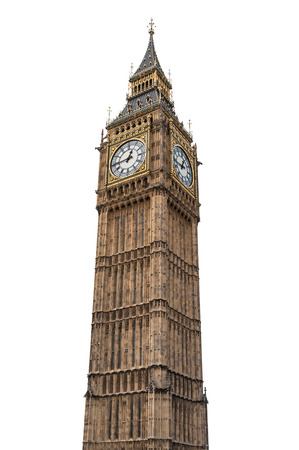 Big Ben in London isolated on white background with clipping path Banco de Imagens - 33748351