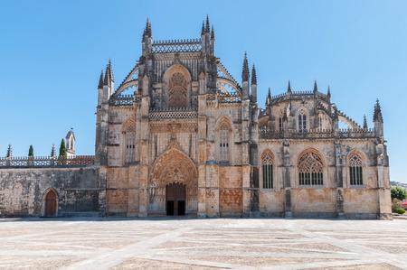 vitoria: Entrance of Monastery of Santa Maria da Vitoria, Batalha, Portugal Stock Photo