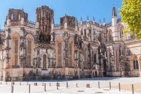 vitoria: Facade of Monastery of Santa Maria da Vitoria, Batalha, Portugal