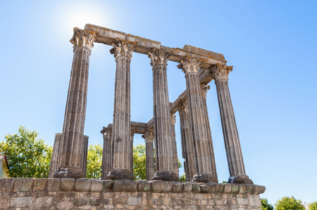 diana: Ancient Roman temple, known as Diana Stock Photo