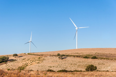 windfarms: Windmills for electric power production in Andalusia region in Spain