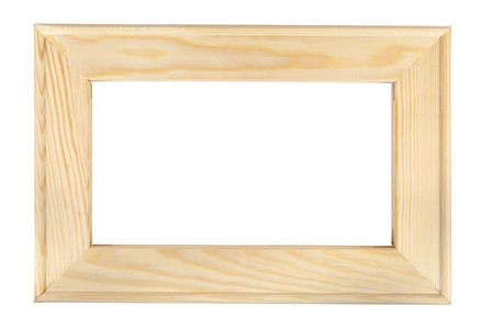 photo pictures: Wooden picture frame isolated on white background