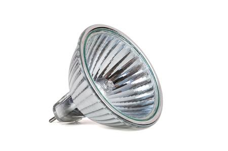 Halogen lamp isolated on white background