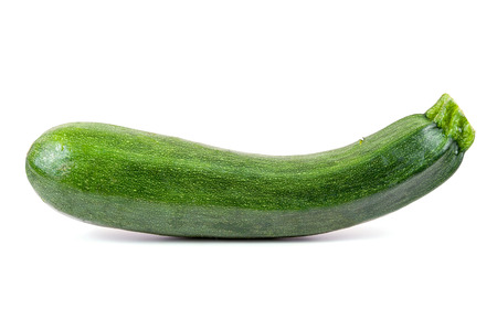 Fresh courgette isolated on white background with clipping path