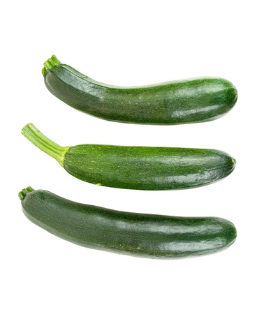 courgettes: Fresh courgettes isolated on white background with clipping path Stock Photo