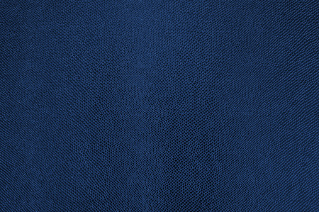 Blue colored leather texture as abstract background