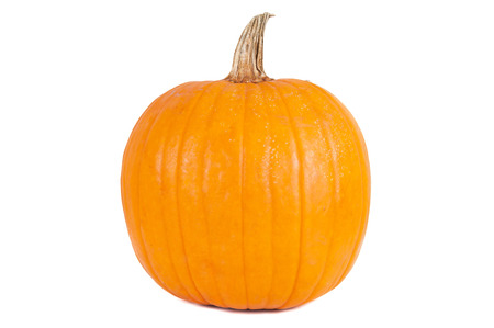 traditional plants: Whole pumpkin isolated on white background with clipping path Stock Photo
