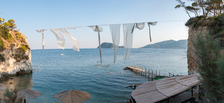 cameo: Panoramic view of Cameo Island - the most popular Zante wedding locations in the Greek islands Stock Photo